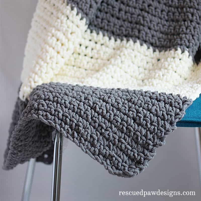 Granite Easy Colorblocked crochet throw