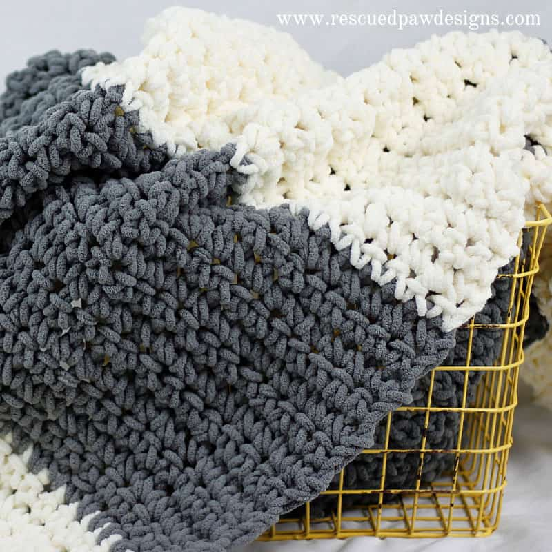 The Granite Crochet Throw Blanket - Free Crochet Blanket Pattern from Rescued Paw Designs www.rescuedpawdesigns.com