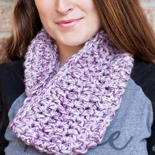 Marbled Dusk Simple Crochet Cowl