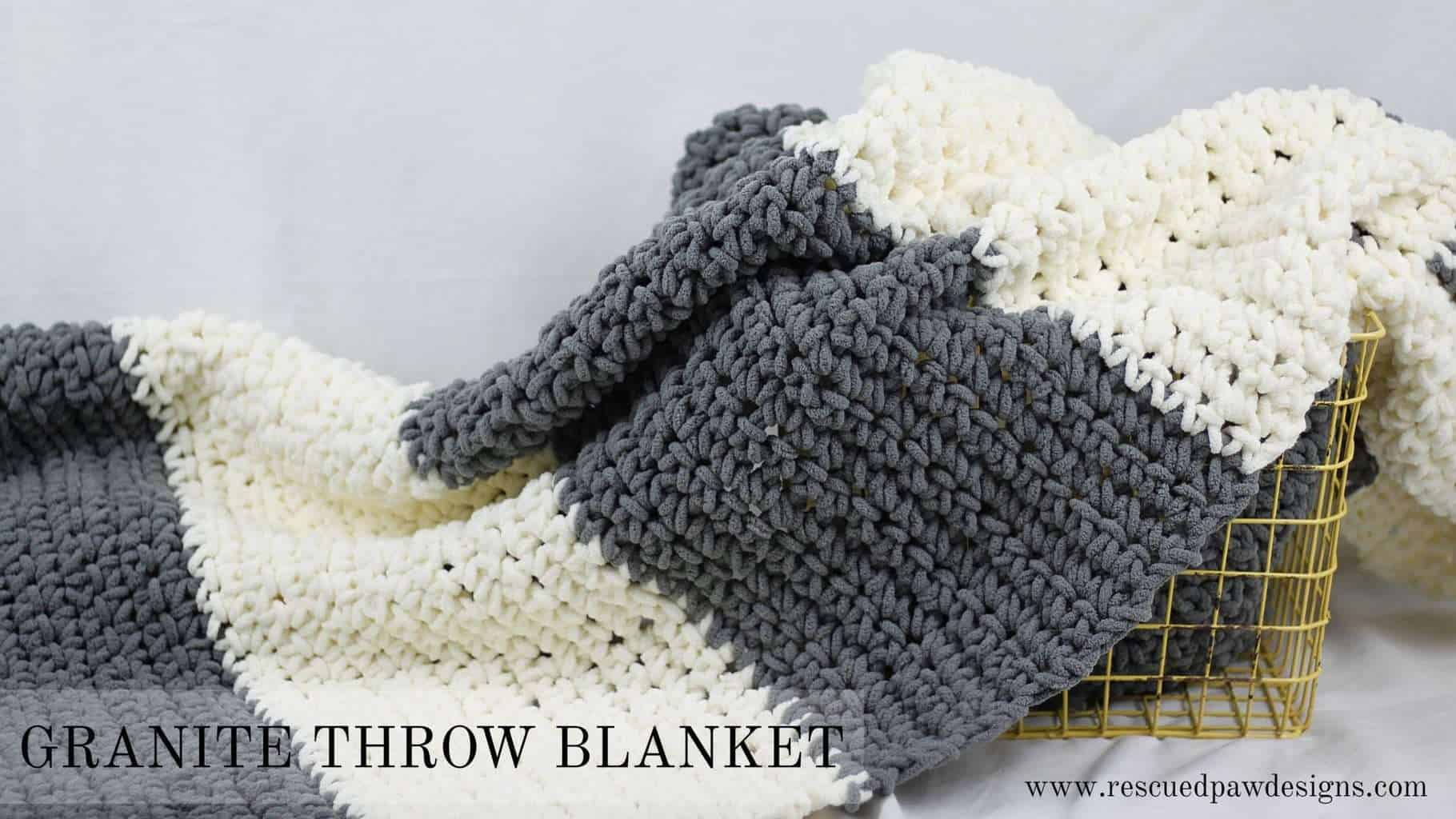 Granite crochet throw blanket rescued paw designs crochet save bankloansurffo Images