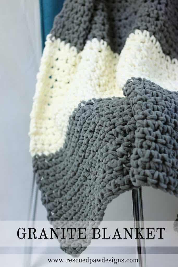 The Granite Crochet Throw Blanket - Free Crochet Blanket Pattern from Easy Crochet www.easycrochet.com