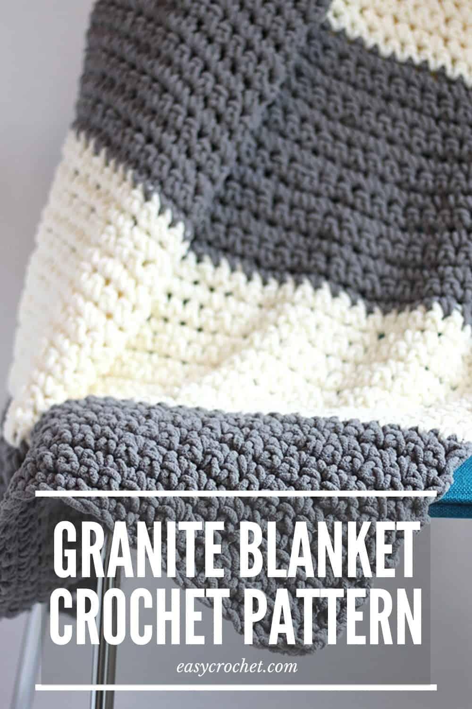 Free Crochet Blanket Pattern by Easy Crochet - Make this beginner-friendly crochet blanket pattern with our FREE crochet pattern! easycrochet.com via @easycrochetcom