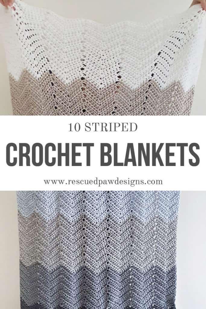 Striped Crochet Baby Blanket Patterns