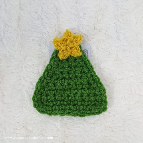 Crochet Tree Gift Card Holder