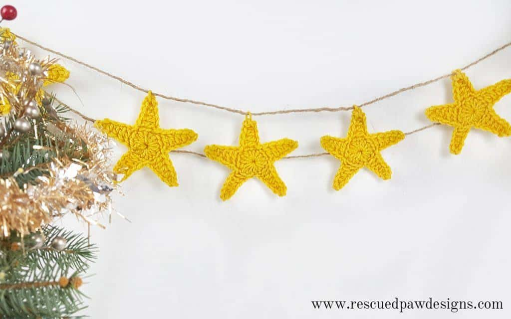 Star Crochet Pattern for Garland