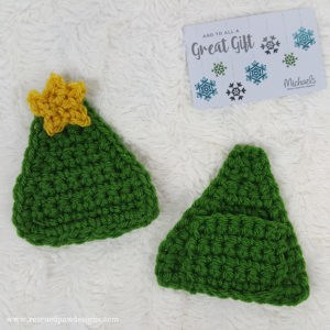 Crochet Christmas Tree Gift Card Holder