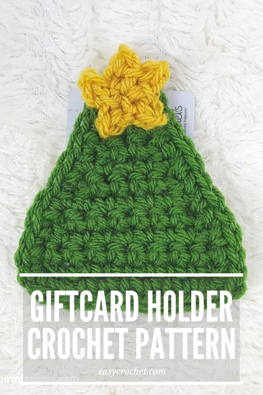 Gift Card Holder for Christmas - Free Crochet Pattern via @easycrochetcom