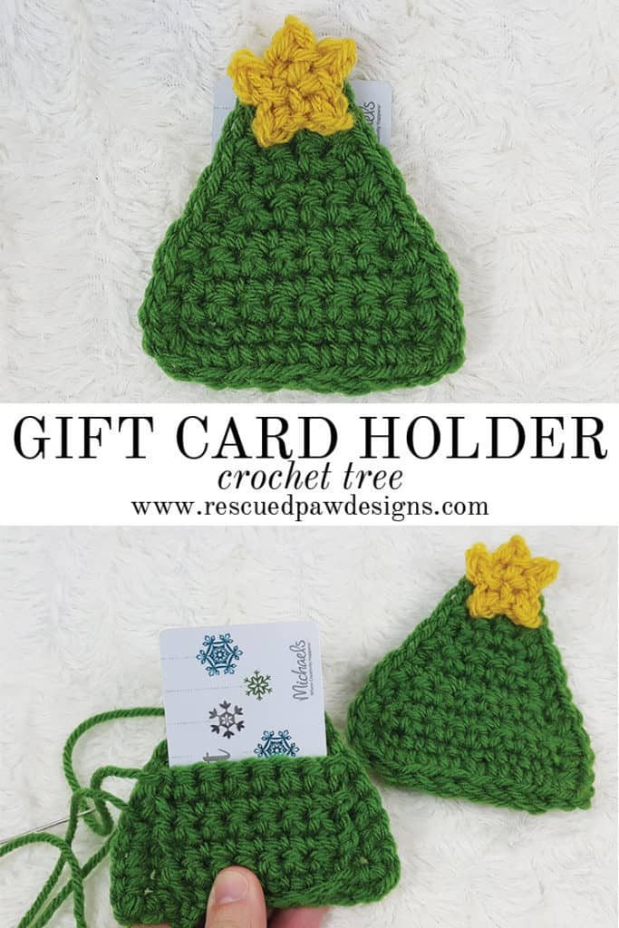 Crochet tree gift card holder rescued paw designs crochet crochet tree gift card holder great for christmas gift cards by rescued paw designs negle Images