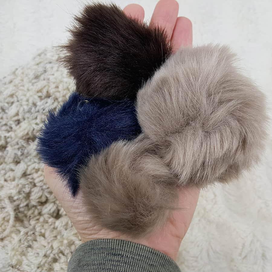 Fur Keychain Pom Pom