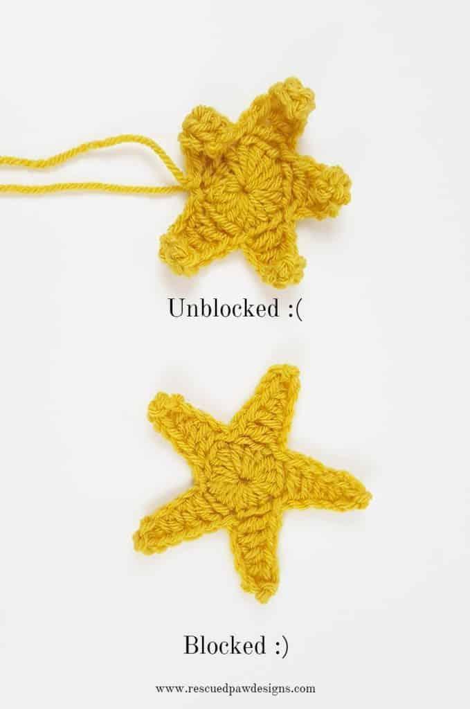 Blocked Crochet Star