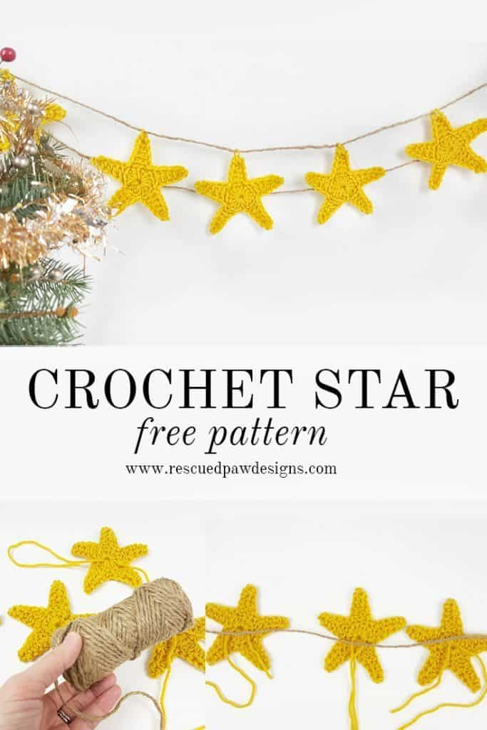 Crochet Star Garland - Free Crochet Star Pattern