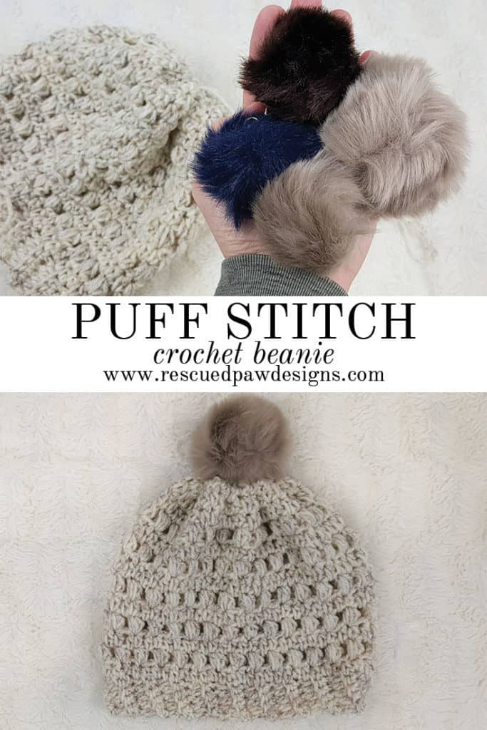 Puff Stitch Beanie Pattern