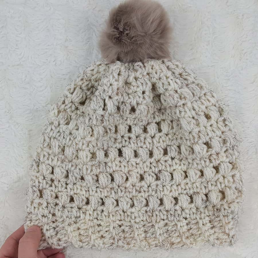 Crochet Puff Stitch Beanie - Free Pattern ? Rescued Paw ...
