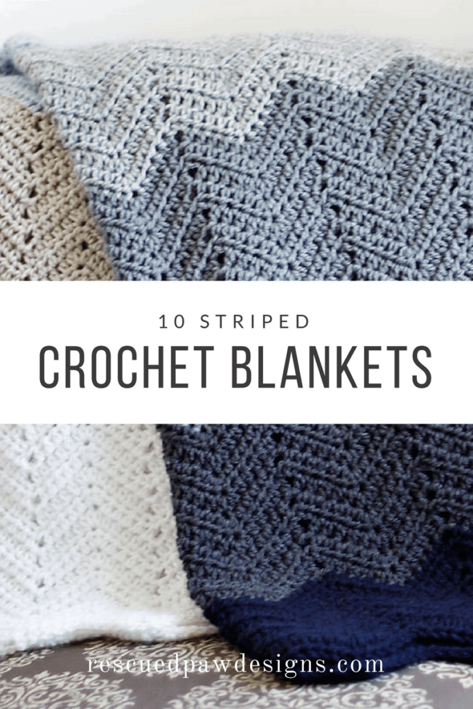 10 Striped Crochet Blanket
