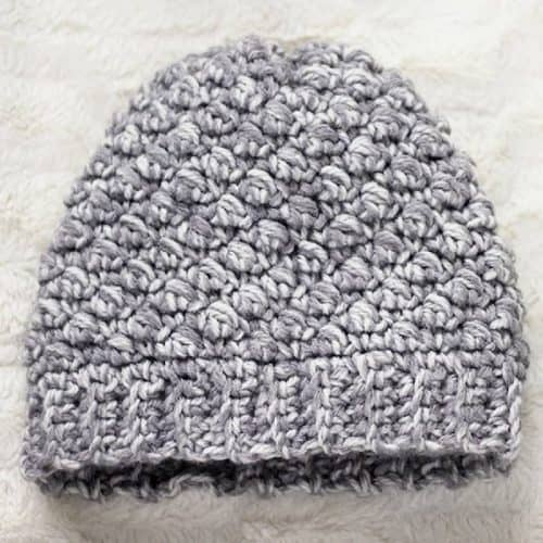 Emily Diagonal Beanie Crochet Hat Pattern