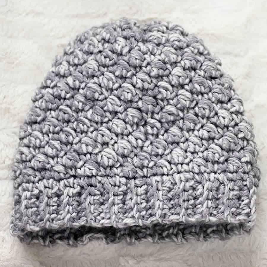 b534c2eae Diagonal Beanie Crochet Pattern - Free Crochet Beanie Hat