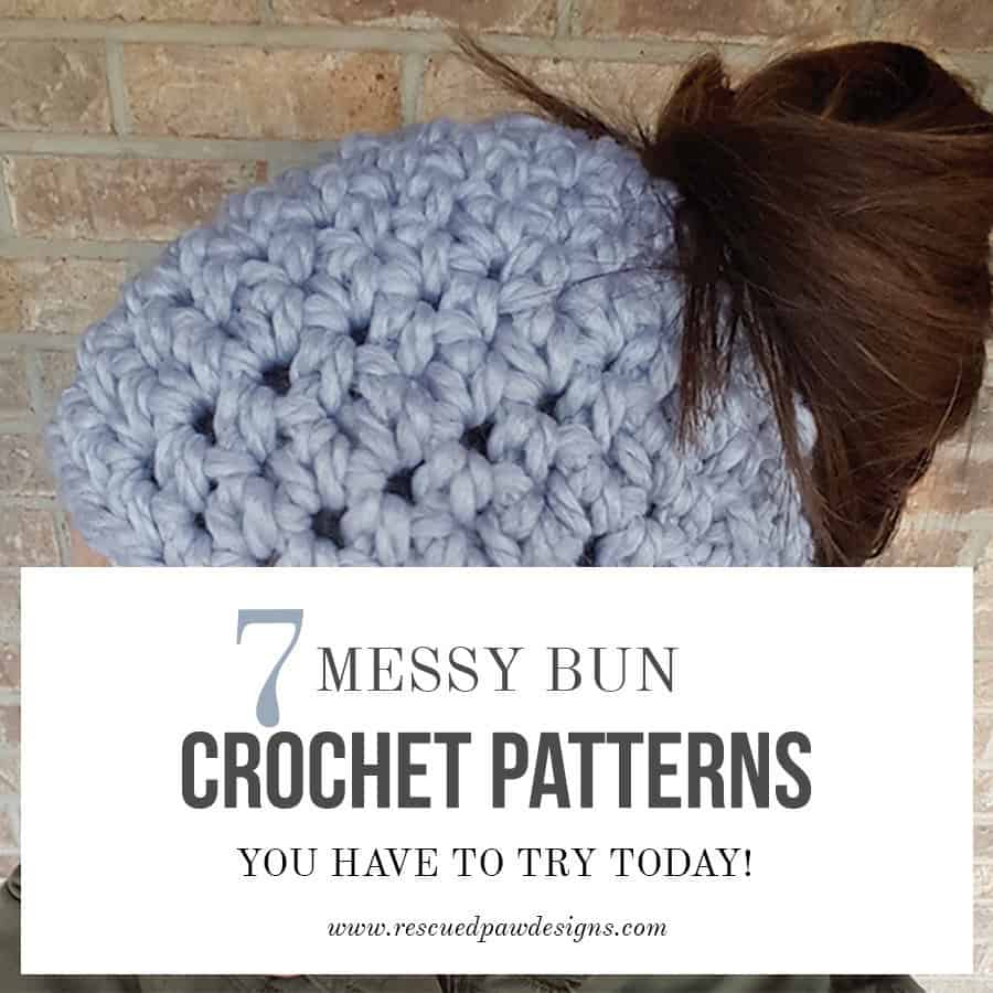 The 7 Best Messy Bun Crochet Patterns Free Messy Bun