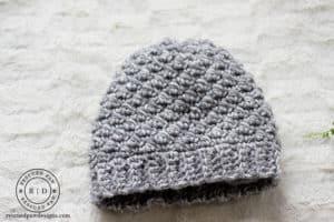 Emily Diagonal Beanie Crochet Pattern - Free & Stylish! Free Crochet Pattern by Rescued Paw Designs