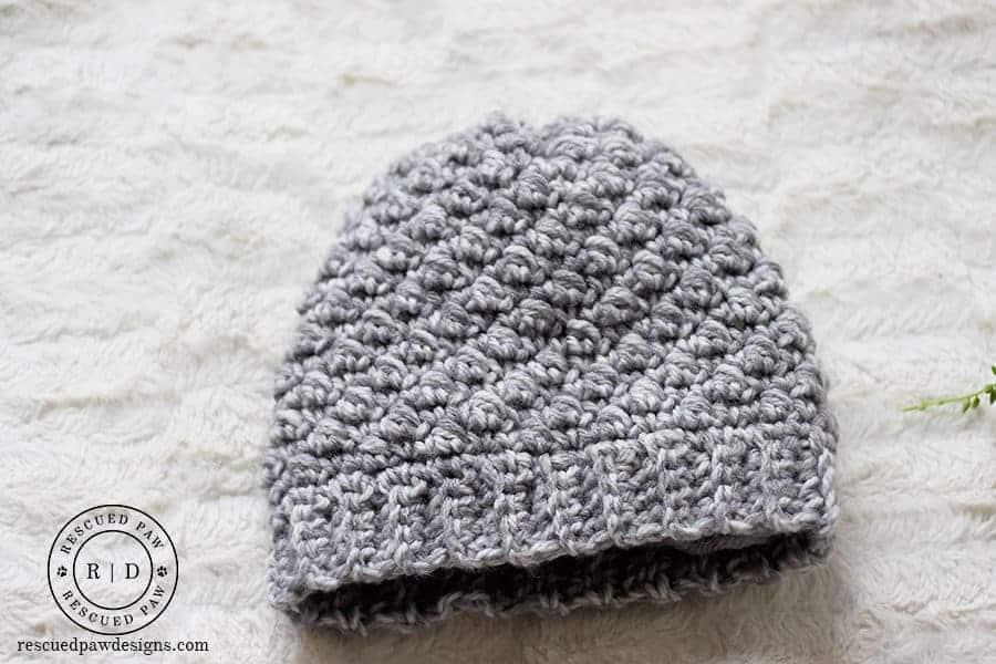 Emily Diagonal Beanie Crochet Pattern by Easy Crochet.