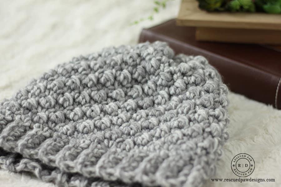 Crochet Hat Pattern Up Close View