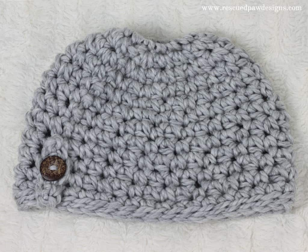 Messy Bun Hat Crochet Pattern Free