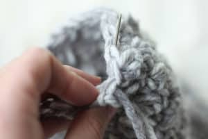 How to Weave in Ends in Crochet Emily Beanie