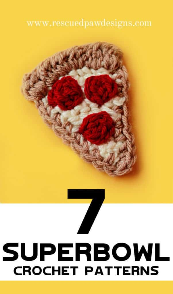 7 FREE Superbowl Crochet Patterns from Rescued Paw Designs.