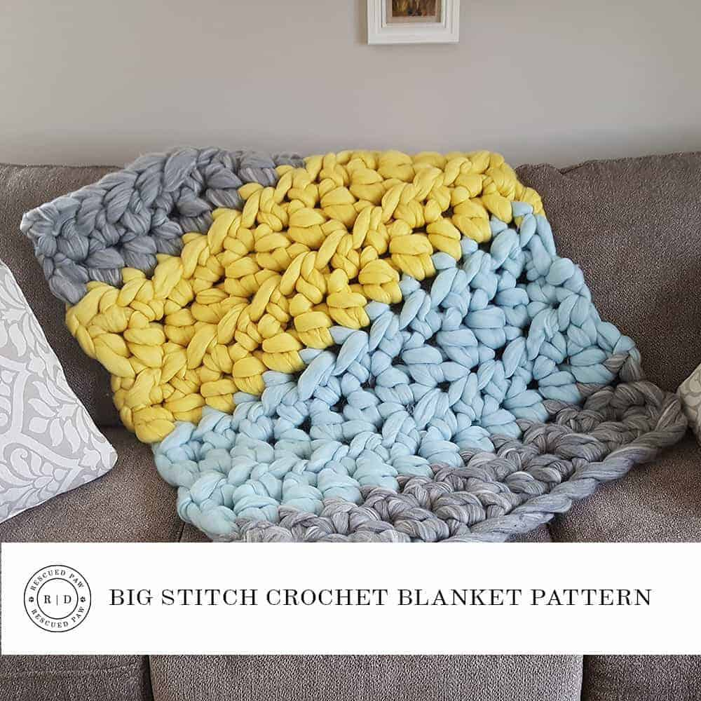 Large Yarn Crochet Blanket Pattern