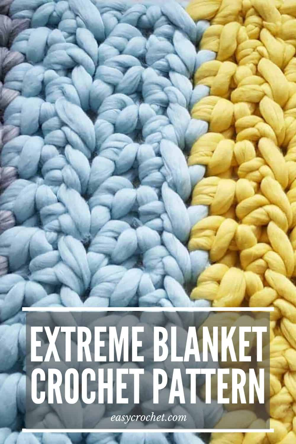 Free Extreme Crochet Blanket Pattern using GIANT YARN! via @easycrochetcom
