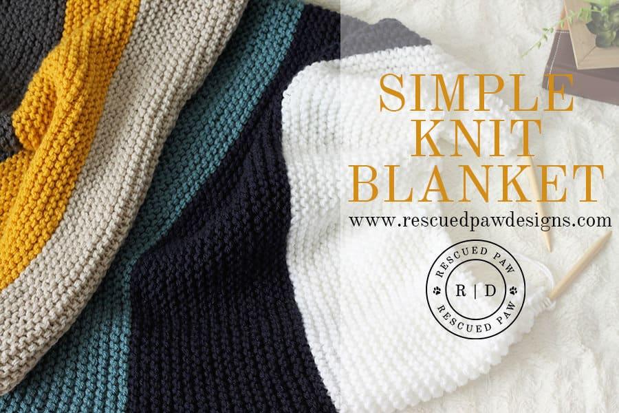 Simple Knit Blanket Pattern