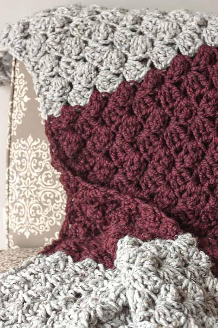 Crochet Blanket Pattern -crochet blanket for beginners chunky