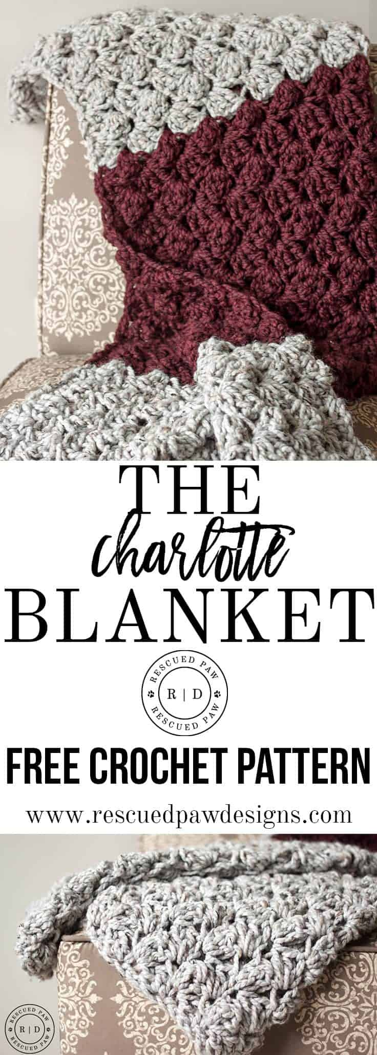 Charlotte Crochet Blanket - Rescued Paw Designs Crochet