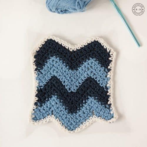Chevron Crochet Dishcloth