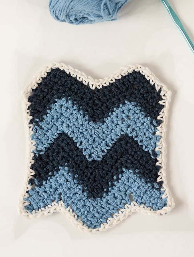 Chevron Crochet Dishcloth