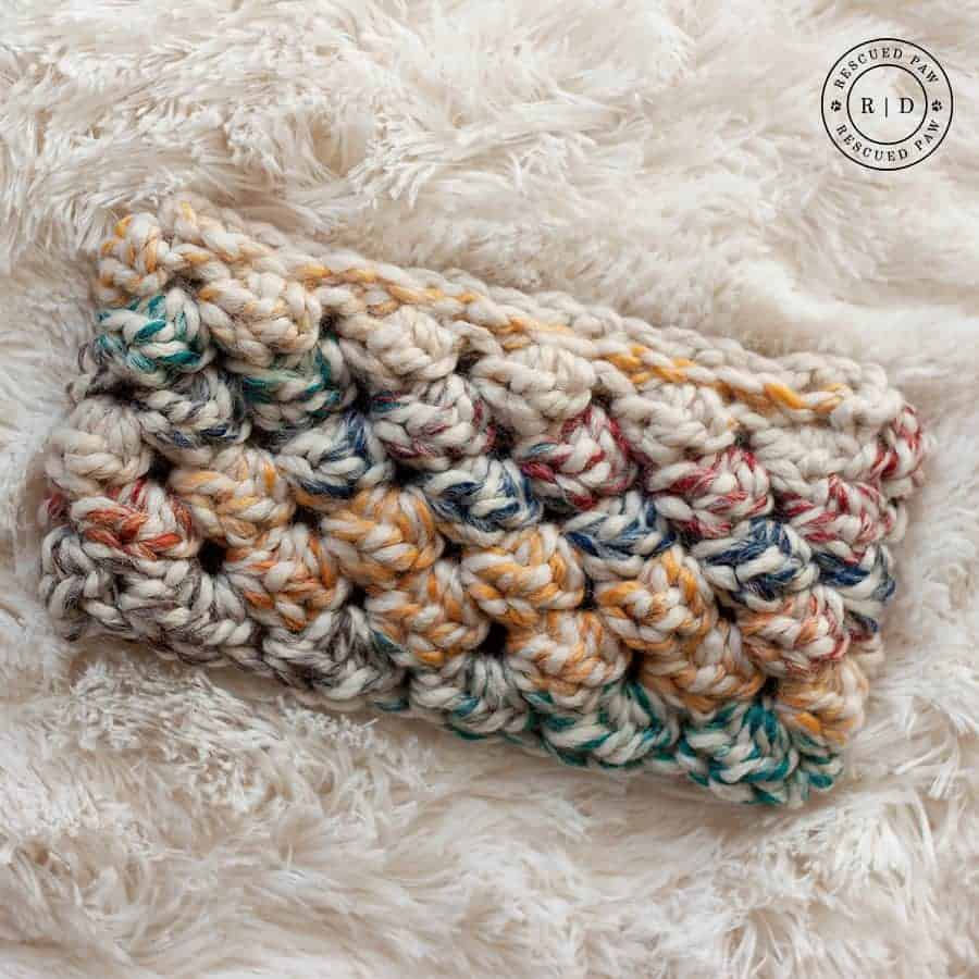 Puffed Crochet Headband by Rescued Paw Designs