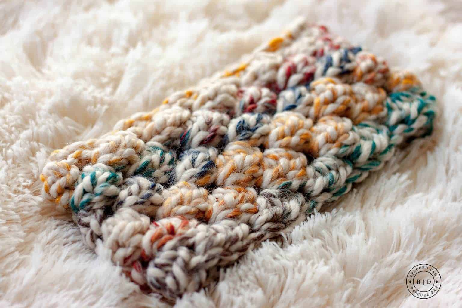 puff stitch crochet earwarmer