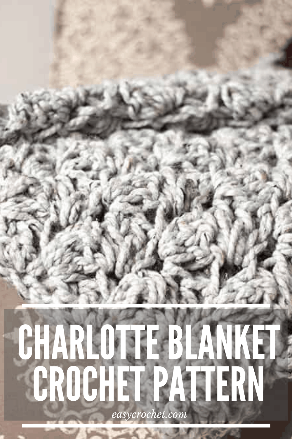 Free Crochet Blanket Pattern - The Charlotte - Beginner-Friendly and works up fast! Find the free crochet pattern at easycrochet.com via @easycrochetcom