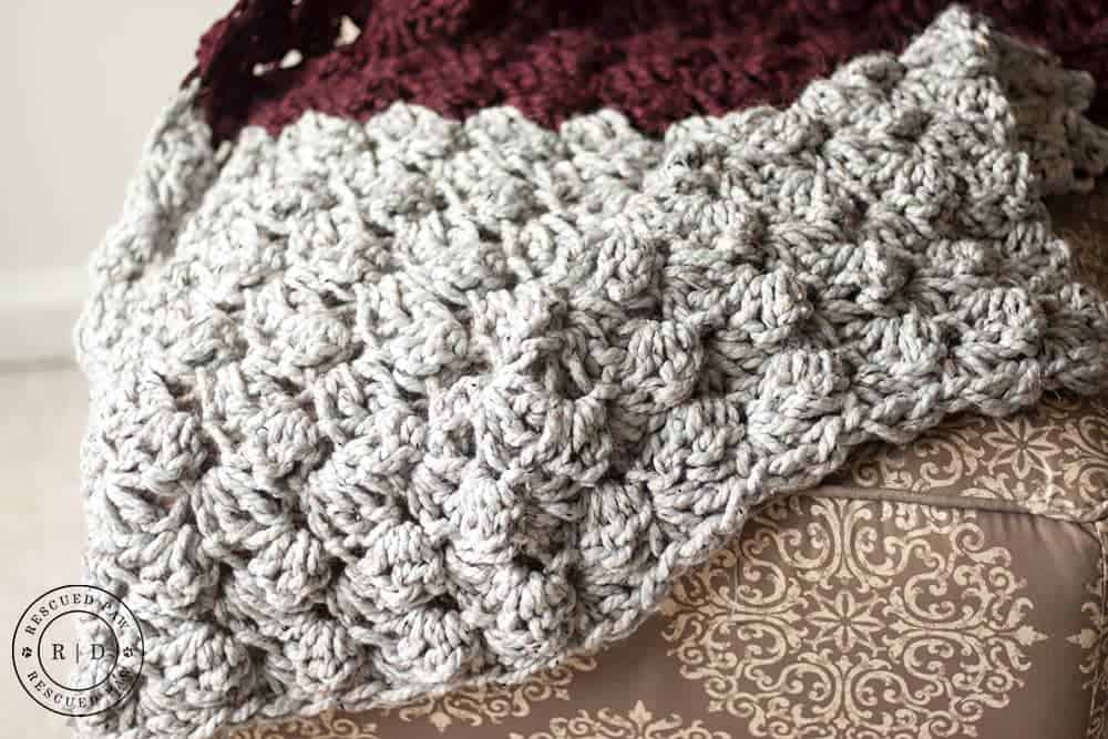 Charlotte Crochet Blanket Pattern from Rescued Paw Designs - Click to Read or Pin and Save for Later! www.rescuedpawdesigns.com