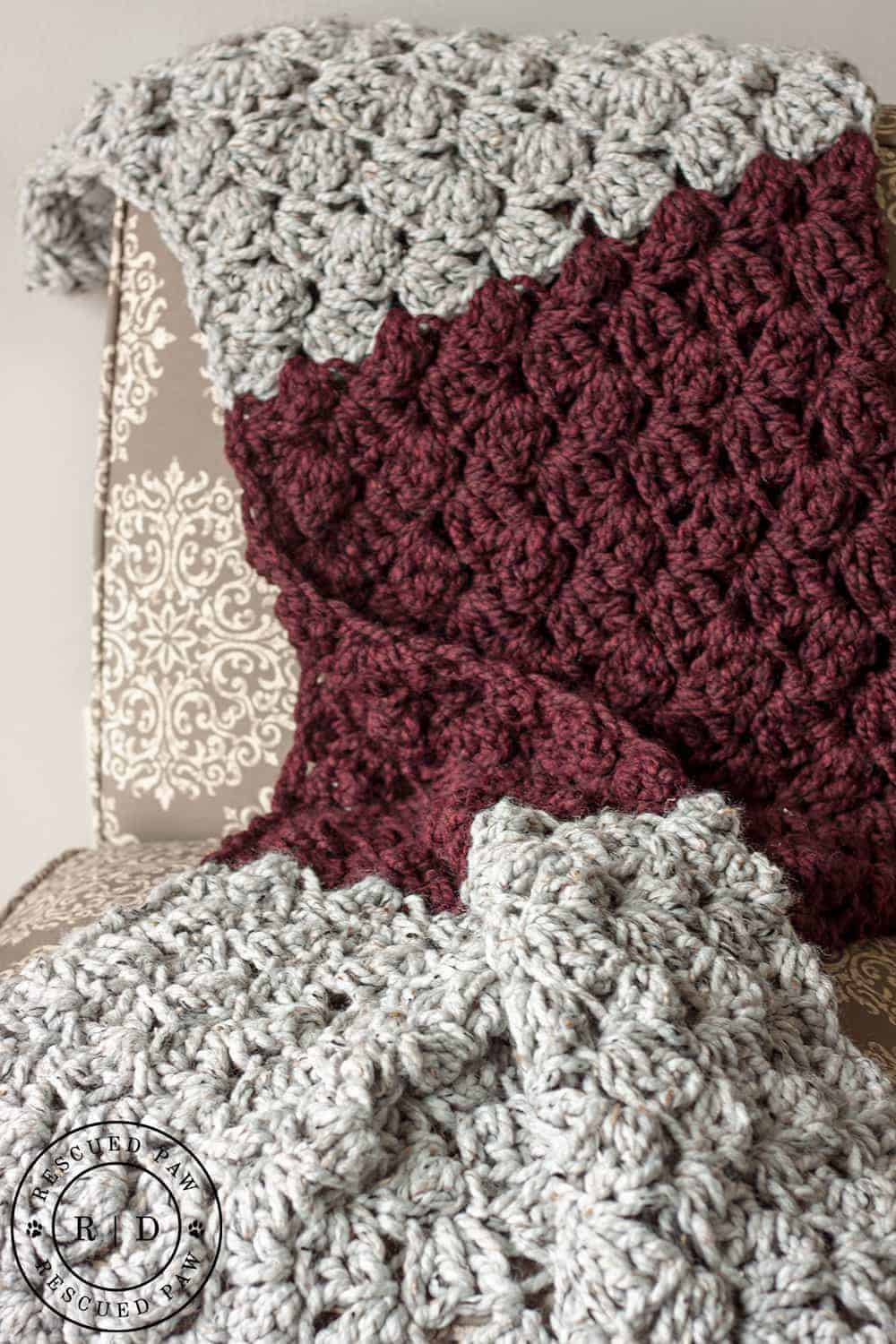 charlotte easy crochet blanket pattern