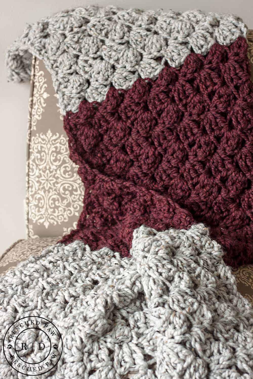 Charlotte Crochet Blanket Pattern - FREE Crochet Pattern by Easy Crochet www.easycrochet.com