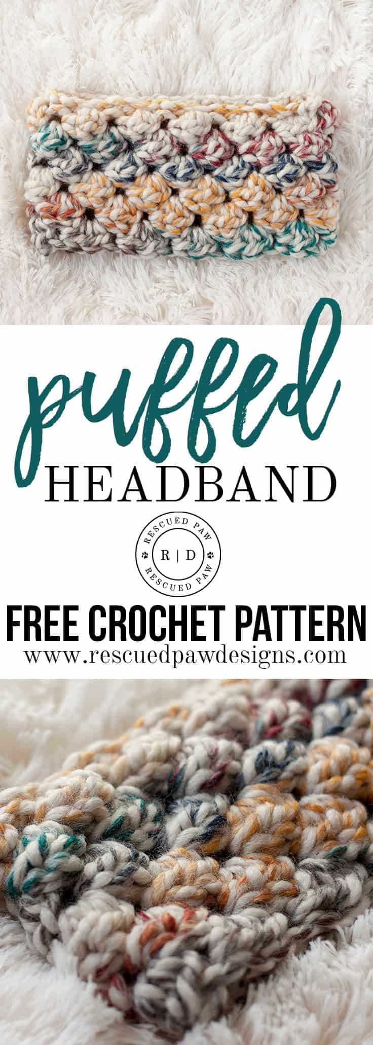 Puffed Headband Crochet Pattern picture