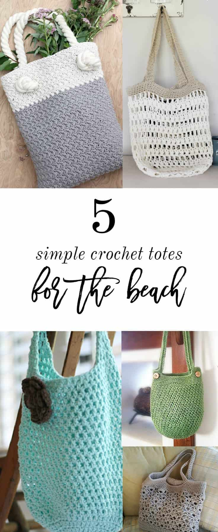 Beach Friendly Crochet Tote Patterns