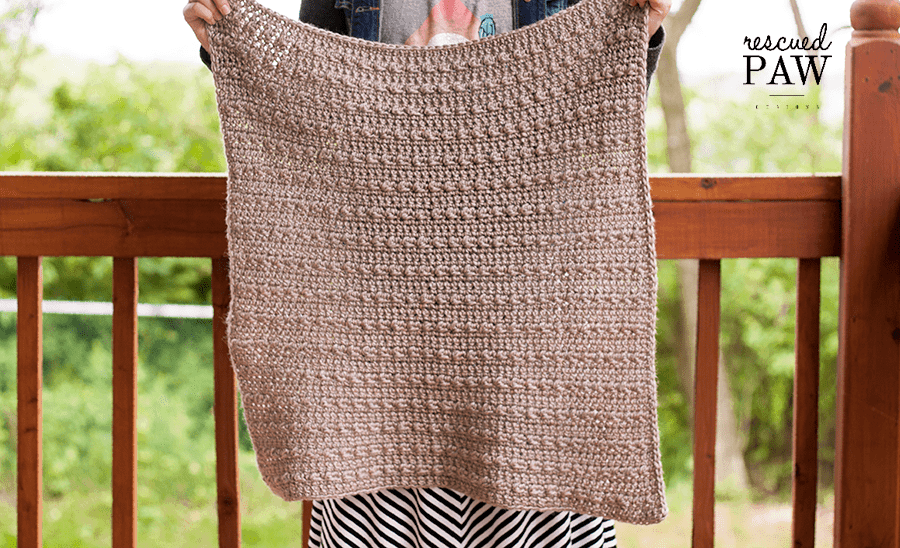 Make the Stoney Pebble Crochet Blanket Today! - Free Pattern from Rescued Paw Designs - Find this pattern and many more at www.rescuedpawdesigns.com