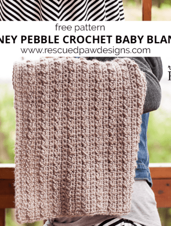 Stoney Pebbles Crochet Baby Blanket