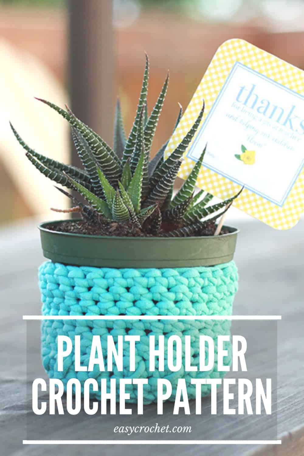 Crochet Plant Holder Pattern via @easycrochetcom