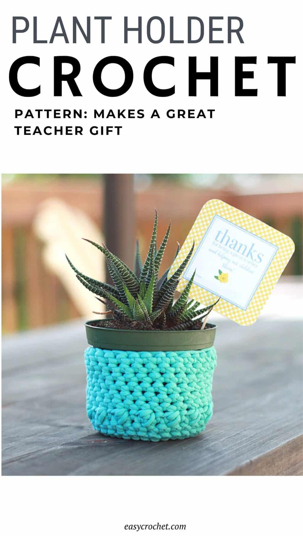 crocheted plant holder pattern