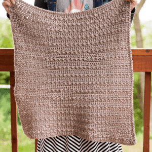 Stoney Pebbles Crochet Baby Blanket