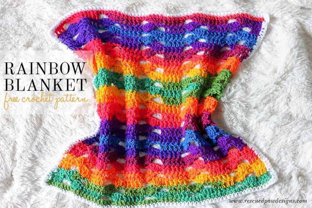 Rainbow Crochet Blanket Crochet Rainbow Baby Blanket