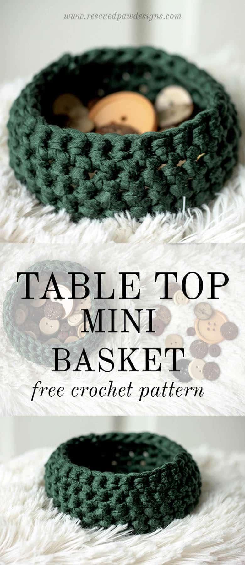 Free Mini Basket Crochet Pattern