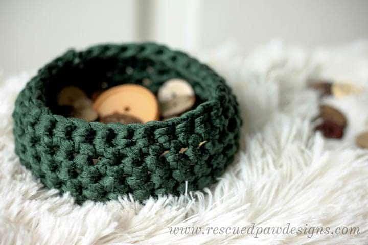 Crochet Basket Wool & the Gang